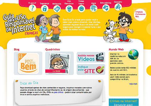 Jogos e brincadeiras para as crianças aprenderem sobre segurança na internet