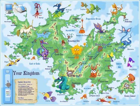 Para cada criança montar o mapa de sua terra da fantasia
